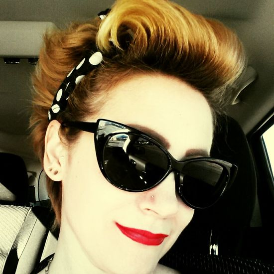Enjoying Life That's Me Hi! The Human Condition Pierced Pinup Hair Redlips Specticals