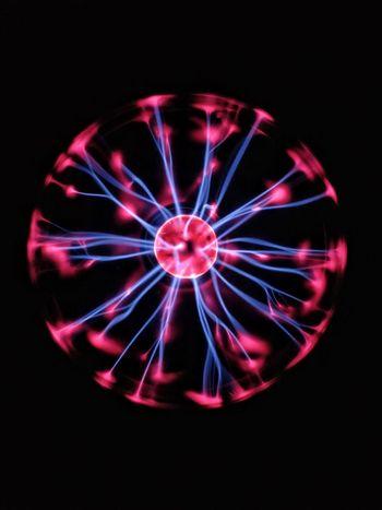 Black Background Close-up Concentric No People Plasma Plasma Ball Plasma Lamp Science Studio Shot