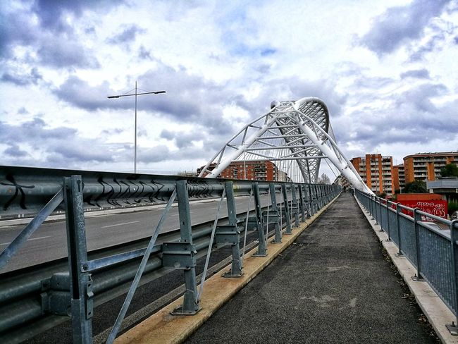 Bridge Street Urban City Cityscape Rainy Days Clouds Architecture POV Iron Metal Rome Italy🇮🇹 Bridge - Man Made Structure Built Structure Sky Cloud - Sky Architecture Amusement Park Outdoors City