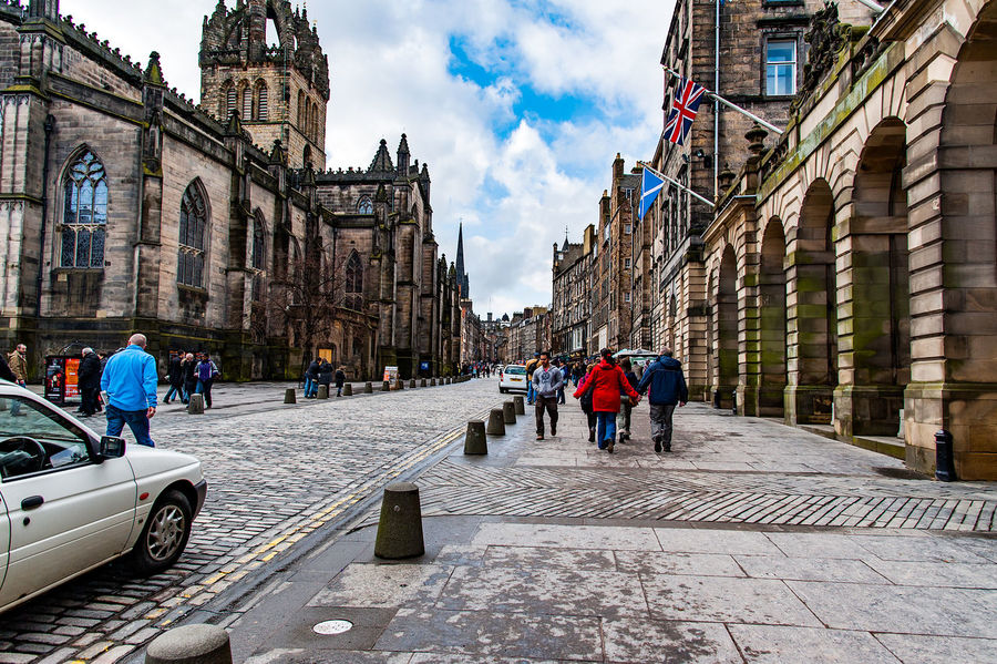 Edinburgh, Views of the city, several monuments and the Castle, Scotland, UK Adult Adults Only Architecture Building Exterior City City Life Day Large Group Of People Outdoors People Real People Sky Travel Destinations