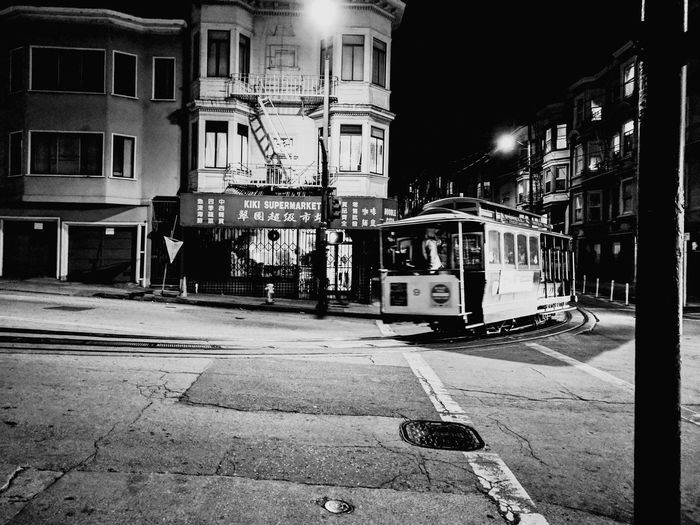 Chinatown San Francisco Latenight Kenopsia Black And White Cable Car #urbanana: The Urban Playground