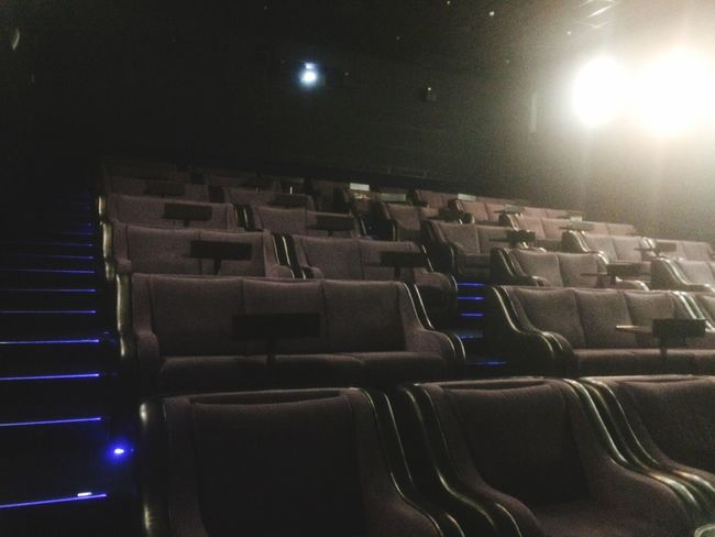 Arts Culture And Entertainment Movie Theater Seat Illuminated Indoors  In A Row No People