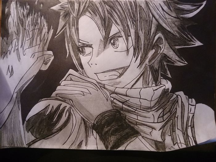 "Alright!Here it is!My new draw of Natsu Dragneel!From the Anime ""Fairy Tail""! Anime Art Fairy Tale Natsu Dragneel My Draw ♥"