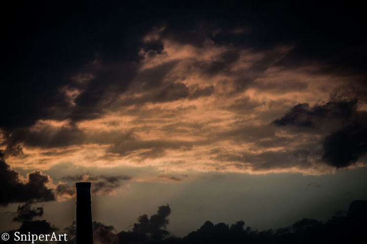 Architecture Beauty In Nature Building Exterior Built Structure Chimney Cloud - Sky Day Factory Industry Low Angle View Nature No People Outdoors Silhouette Sky Smoke Stack Sunset