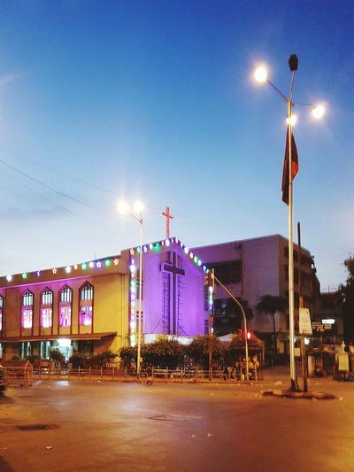 Mahim Church Morning Light Street Light Building Exterior Urban Skyline Illuminated Outdoors EyeEmNewHere