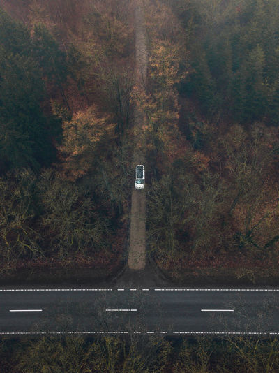 Autumn Change Communication Day Dronephotography Growth Guidance Land Marking Nature No People Number Outdoors Plant Road Road Marking Sign Symbol Tranquility Transportation Tree