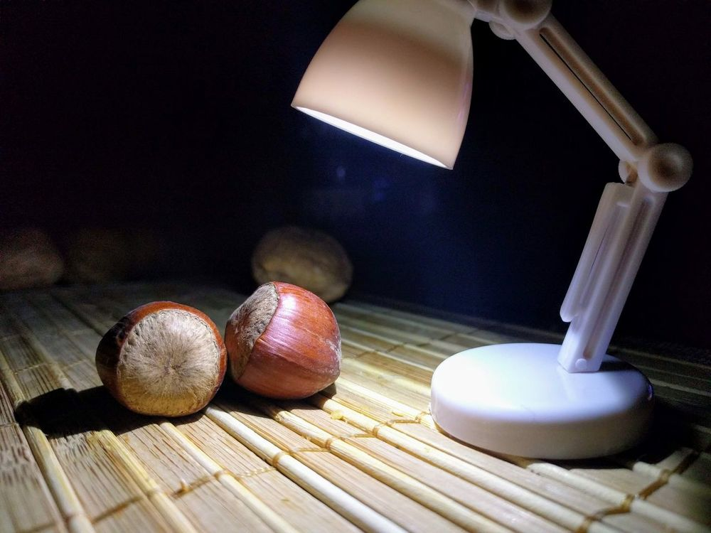 Hazelnuts Desktop Lamp Table Indoors  Wood - Material Close-up Food And Drink No People Food Still Life Wellbeing Healthy Eating Lighting Equipment Freshness Group Of Objects Fruit Electric Lamp Illuminated Nut Nut - Food Technology Focus On Foreground Macro Photography