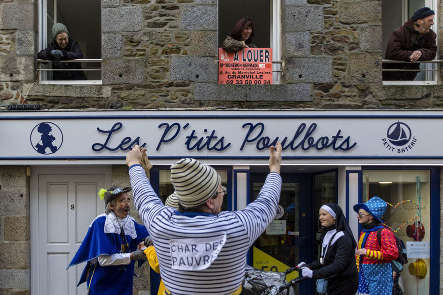 Carnival in Granville France. In the picture, a collection of money for the poor. February 2018. Carnival Carnival Time Adult Building Exterior Carnival - Celebration Event Carnival Spirit Casual Clothing Communication Group Group Of People Leisure Activity Lifestyles Men Outdoors People Real People Togetherness Uniform The Photojournalist - 2018 EyeEm Awards The Street Photographer - 2018 EyeEm Awards The Traveler - 2018 EyeEm Awards
