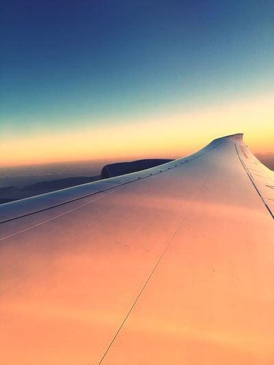 Sunset Transportation Nature Airplane Scenics Sky No People Travel Outdoors Tranquil Scene Sky And Clouds Plain 747 Holidays