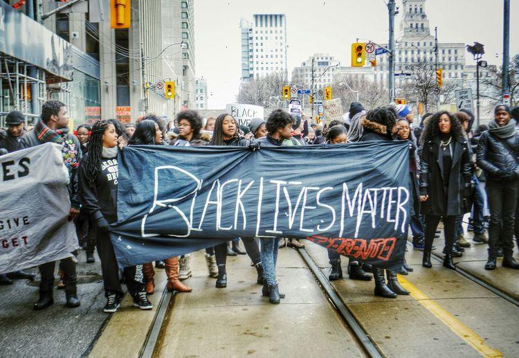 Black Lives Matter, Toronto, CA. Black Lives Matter Black People Equality Rally Black Community Downtown Toronto