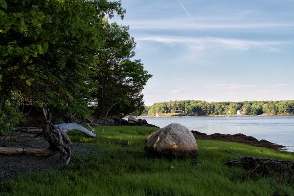 Adams Point Wildlife Sanctuary Bay Beauty In Nature Cloud - Sky Grass Grassy Green Color Growth Landscape Nature No People Non-urban Scene Outdoors Sky Tranquil Scene Water