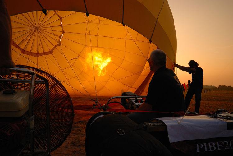 Cropped Hot Air Balloon Against Clear Sky