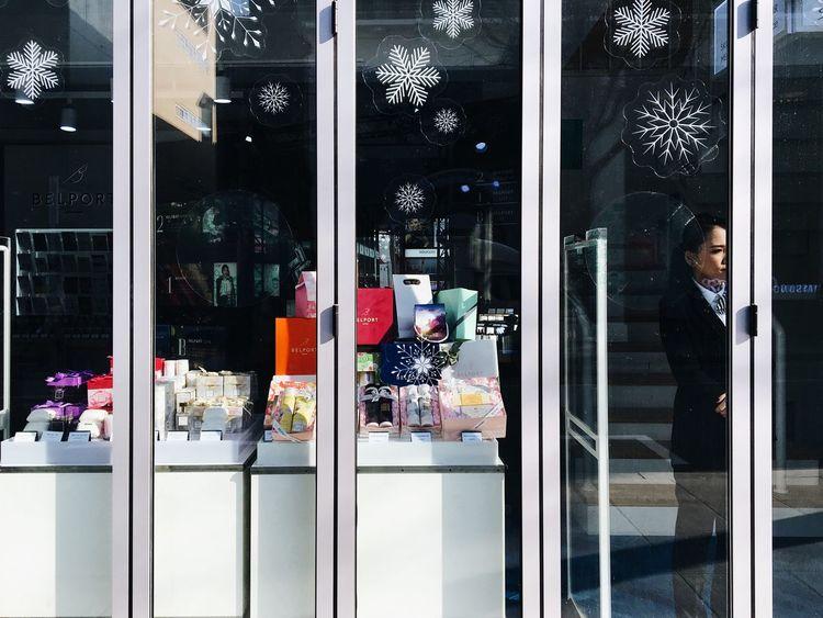 Street Through The Window Seoul EyeEm Korea Winter Gift Shop