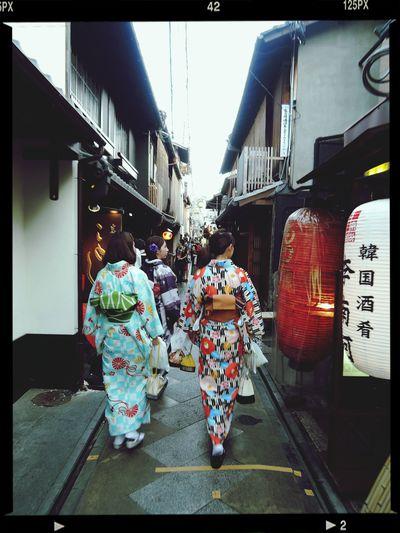 Kyoto Gheisha Ponto-cho Walking