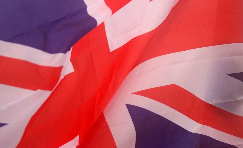 Full Frame Shot Of Waving British Flag