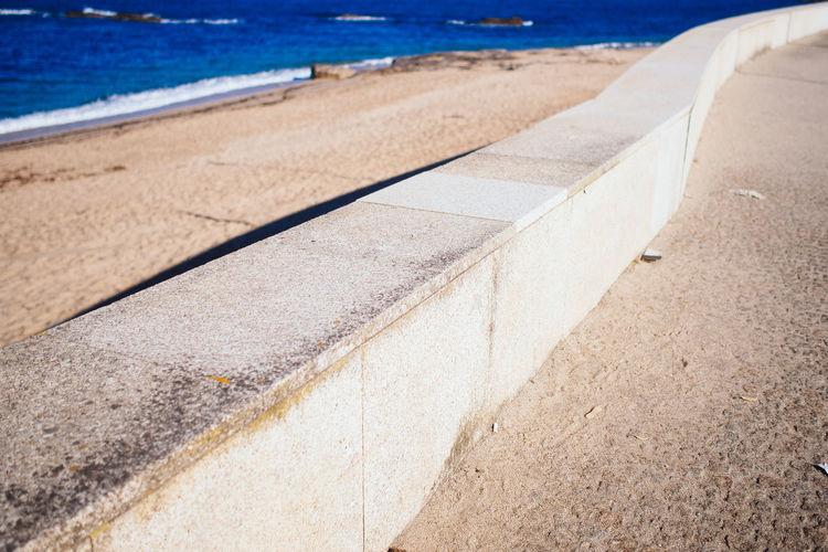 Concrete Railing On Beach
