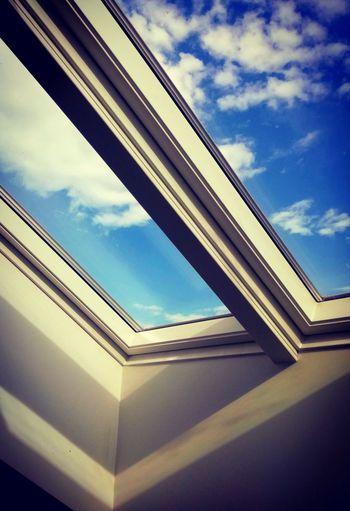 'FLYTIMEFLY' Oslo 2018 KJ✨ Geometry Window Sky Architecture Built Structure Cloud - Sky Close-up Corner Skyline Skylight Upward View Architectural Detail Architecture And Art Architectural Design Geometric Shape