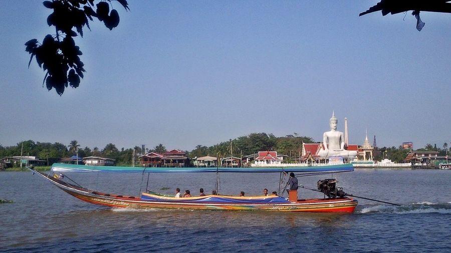Around Ko Kret, Bangkok Bangkok Ko Kret Thailand Clear Sky Day Mode Of Transport Outdoors Religion Sky Transportation Water