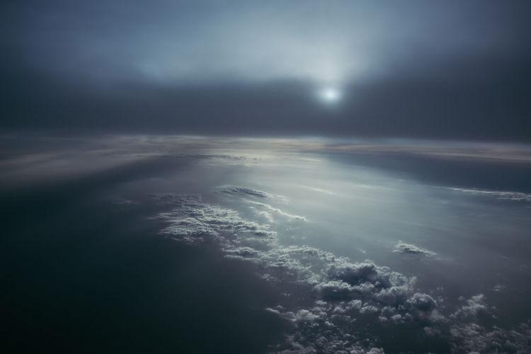 Scenic view of cloudscape over sea