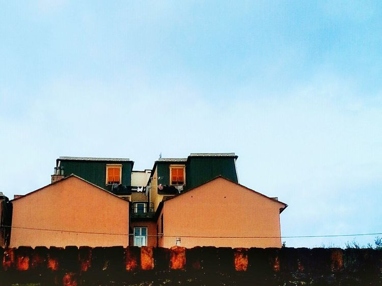 """Attico"". Simplicity. Unusual Architecture in My Town. Looking Up Buildings Rooftop Roof Top Palazzo Attico Smartphone Photography Galaxy Note 2 Camerazoomfx HDR mode. Bracketing Eyeemfilter F3"