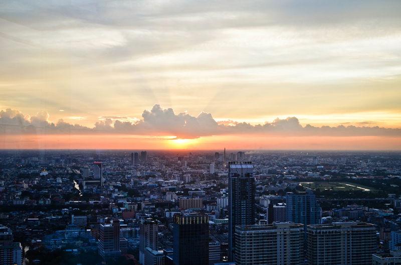 Cityscape at sunset