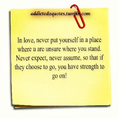 Lesson learned kathleena... Neverassume Neverexpect