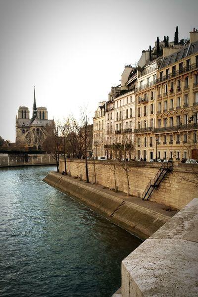 Paris France IleDeFrance Notredame River Seine La Seine