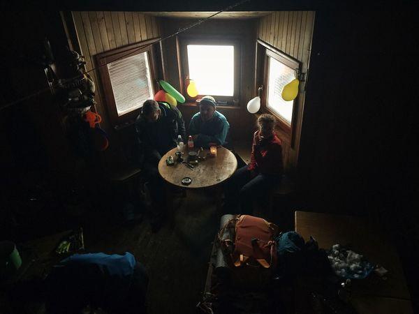 "Mountain shelter ""Jakob Mihelcic"", alt. 1460 m, Bjelolasica, Croatia, 2018. Documentary Snow Shelter Mountain Shelter Adventure Hiking Indoors  Real People Illuminated"