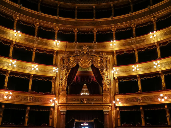 Interior of Teatro Massimo, Palermo.... Architecture Teatro Massimo Arts Culture And Entertainment Palermo,Sicilia Opera And Ballet Theatre Illuminated Decoration Royal Box Entertainment Event Elégance Indoors  No People Built Structure Arts And Entertainment Italian Architecture Italy Opéra