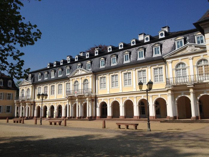 Architecture Baroque Baroque Architecture Baroque Palace Blue Sky Building Building Exterior Built Structure Culture Façade Germany Hanau Historical Historical Building Schloss Philippsruhe Sunny