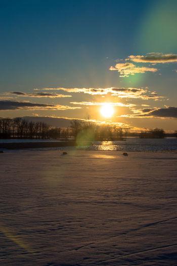 Canada Coast To Coast Idyllic Idyllic Scenery Sunset Sun Sky Scenics - Nature Water Cloud - Sky Beauty In Nature Tranquility Tranquil Scene Nature Sunlight No People Outdoors Orange Color Sea Beach Land Waterfront
