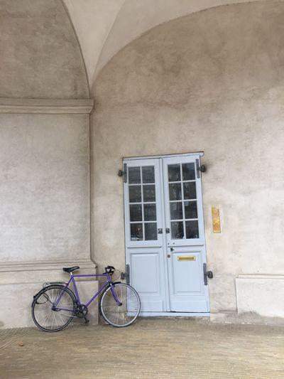 Bike against a