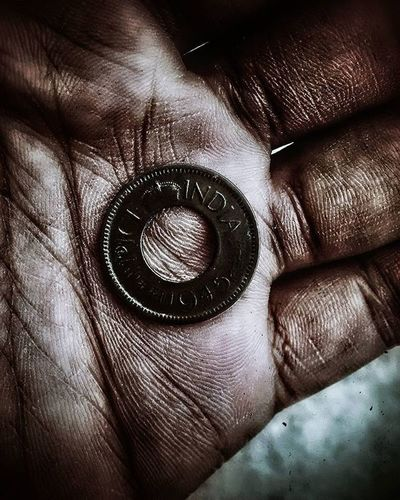 1945 Motog Motography Extrememobileediting Snapseed found a 1945 one paisa Indian coin ....😉😉😉