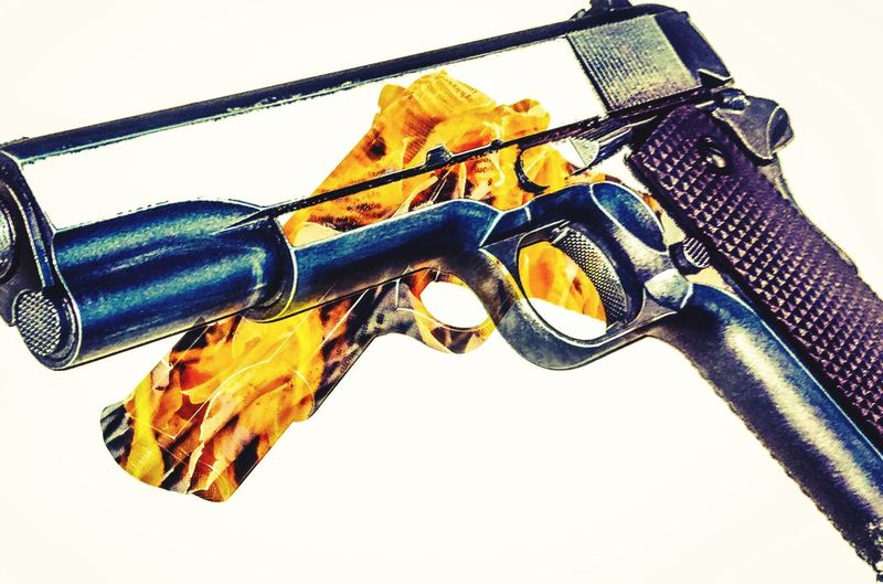 Guns are made for killing armed men, not unarmed children.... Pistol 1911 Fire GunControl Abstract Artistic Guns