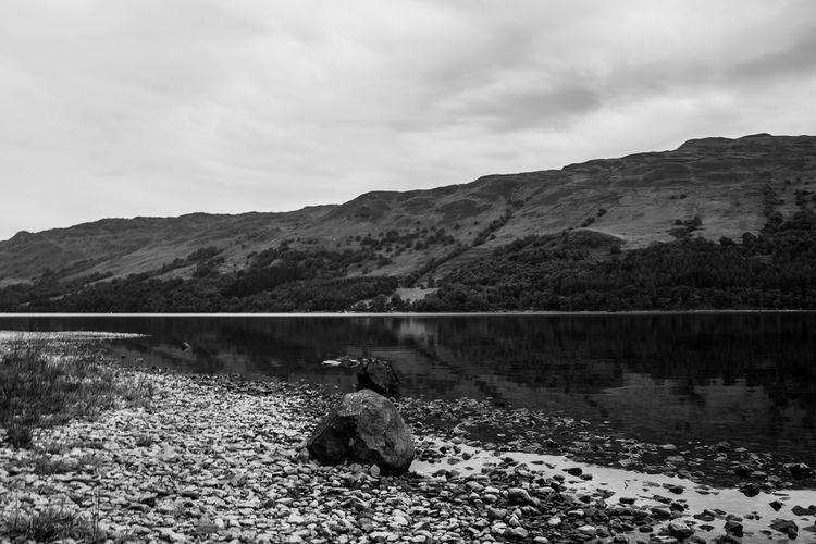 Lomography Neptune Convertible Art Lens System Black And White Blackandwhite Mountain Sky Water Nature Beauty In Nature Scenics - Nature Lake Cloud - Sky Day Non-urban Scene Tranquility Mountain Range No People Tranquil Scene Rock Animal Themes Animal Solid Land Outdoors