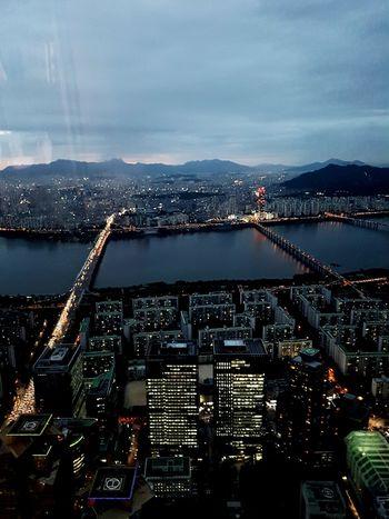 Night line EyeEm Gallery Hanriver Seoul, Korea City Cityscape Water Urban Skyline Skyscraper Illuminated Aerial View Modern High Angle View
