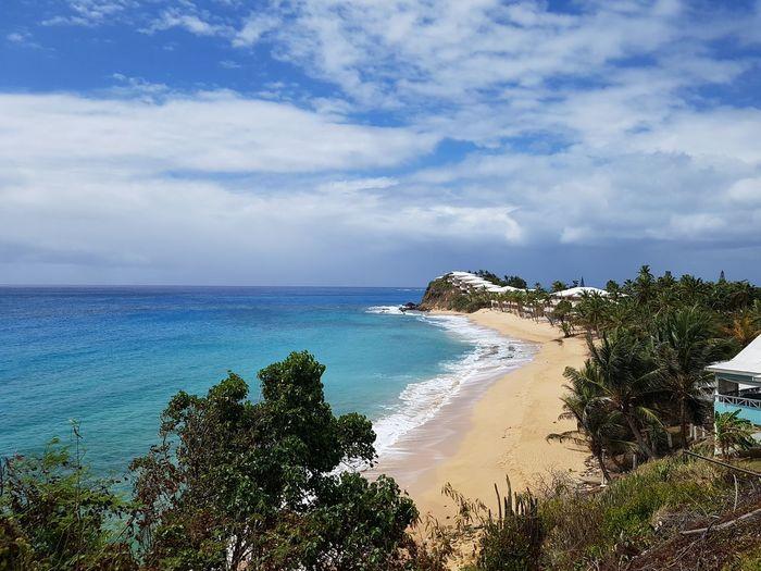 Beach Shoreline Sea And Sky