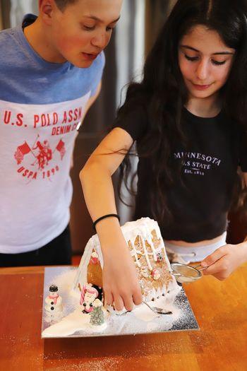 Full length of a girl holding ice cream