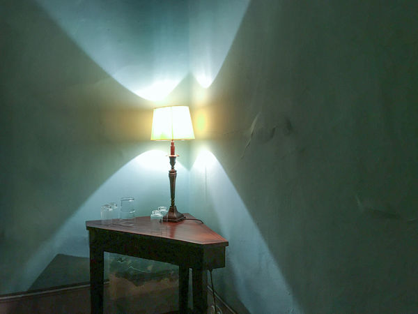 Antiques Blue Wall Close-up Illuminated Indoors  Night Scene No People Small Lamp
