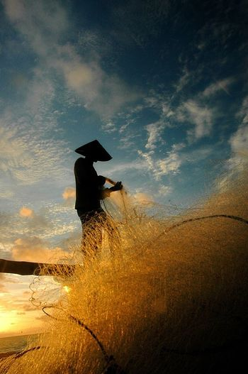 Smiles and Gold - series Everyday Lives Maritime Fishermen Eye4photography  Golden Hour