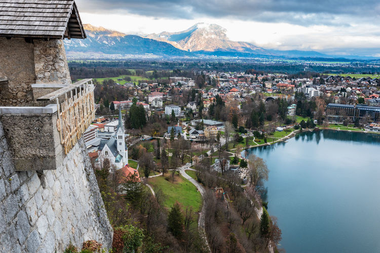 Panorama from the bled castle. slovenia