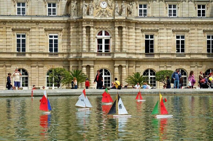 Toy Sailboats in Jardin Du Luxembourg Paris . Feeling Good during a Sunny Day . Traveling Light And Shadow Architecture Playtime Cities Of Europe