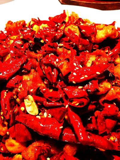 Too hot Food Food And Drink Red Cooked ASIA Asian Foods Sichuan Food Chinese Food Foodlover Spicy Chicken Spice It Up Pepper Roasted Chicken Red Chili Pepper