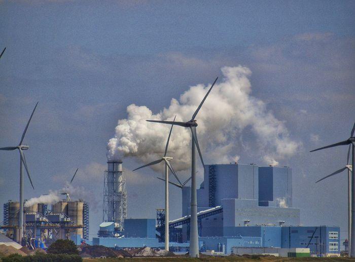 Groningen Blue Windmill Harbour Industrial Landscapes