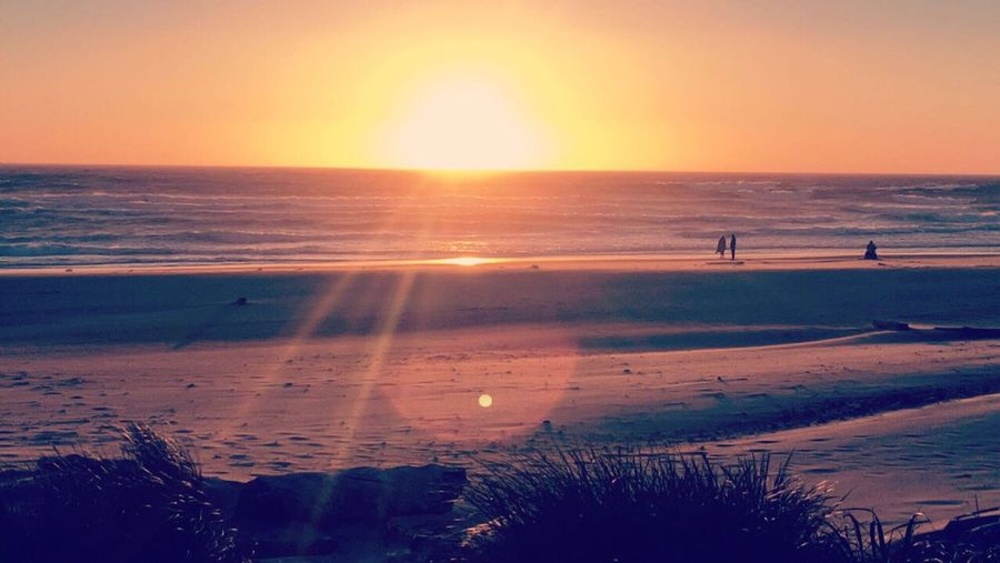 Sunset Nature Beauty In Nature Sun Tranquil Scene Beach Water Sky Sand Horizon Over Water Orange Color Tranquility Outdoors Sea