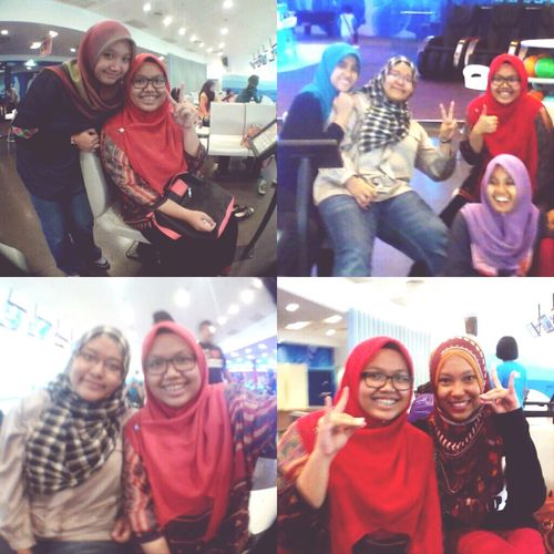 Have fun with my girls yesterday Bowling Hangout Pizza