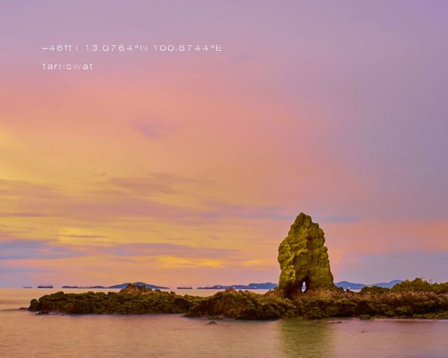 Galaxy Water Sunset Sea Mountain Rock - Object Sky Architecture Landscape Horizon Over Water