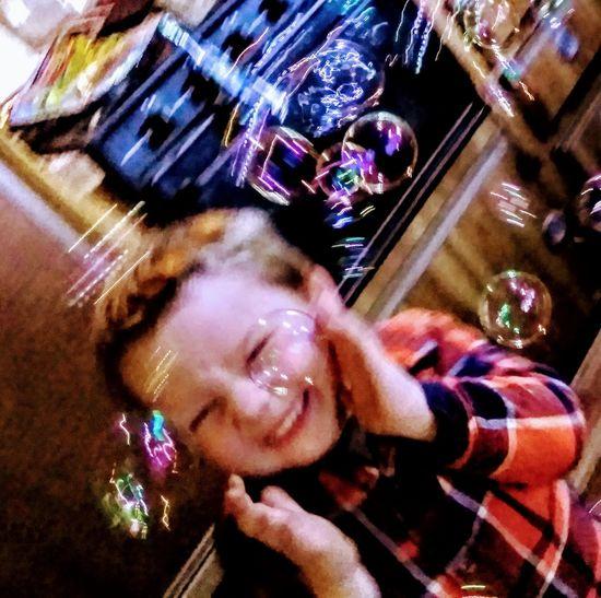 eye em kids laughing. bubbles. boy colordul Eye Em Kids