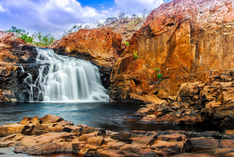 Australia Beauty In Nature Blurred Motion Day Edith Falls Katherine NT Australia Long Exposure Motion Nature No People Outdoors Physical Geography Rock - Object Rock Formation Rock Formation Scenics Sky Water Waterfall