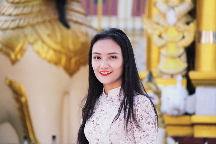 Smiling Portrait Looking At Camera One Person Happiness Young Adult Women Young Women Hair Emotion Beauty Long Hair Waist Up Adult Hairstyle Teeth Black Hair Architecture Beautiful Woman Teenager